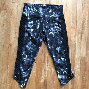 lululemon marble w/ sheer paneled leggings